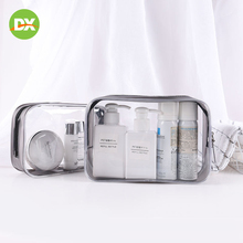 Transparent Waterproof PVC Cosmetic Bag Large Capacity Portable Travel Packing Washing Zip Lock Plastic Storage Beauty Kit
