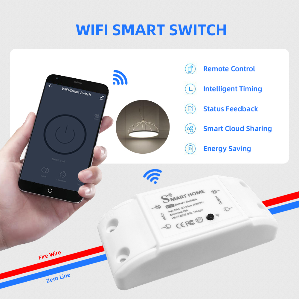 DIY Smart Home House Wifi Wireless Remote Switch Domotica LED Light Controller Module for Alexa Google Home Smartlife Tuya APP 4