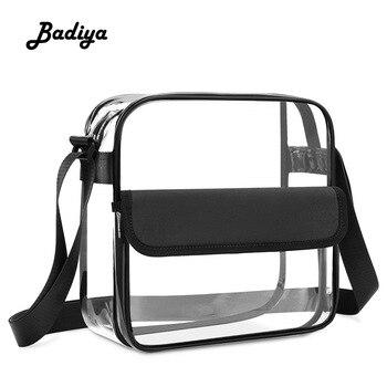 Transparent Men Women Shoulder Bag Casual Travel Fashion PVC Multifunction Waterproof Crossbody Bag Brief Female Messenger Bag