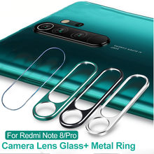 Camera lens Glass&Metal Ring For Redmi Note 8T 8 8 Pro Tempered glass&Camera Lens Protection Film For Xiaomi 9T K20 Back Glass(China)
