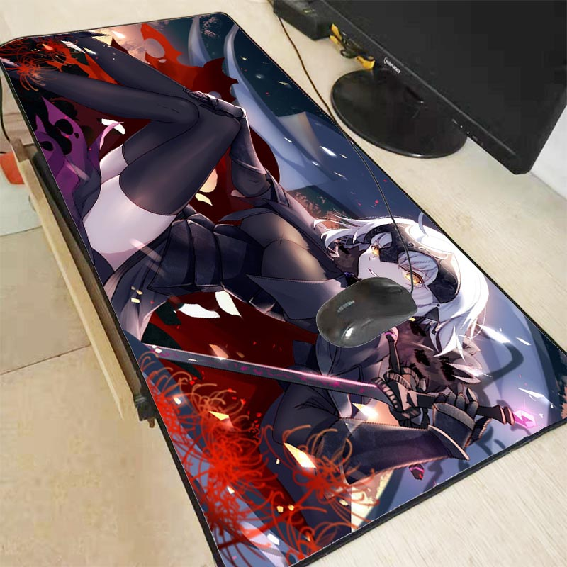 XGZ Anime Fate/Grand Order Large Gaming Mouse Pad Locking Edge Mouse Mat For Laptop Computer Keyboard Pad Desk Pad For Dota LOL