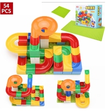 54 pcs Childrens Building Blocks Assembling Large Particles Boys and Girls Puzzle Chute Toy Kid Gift