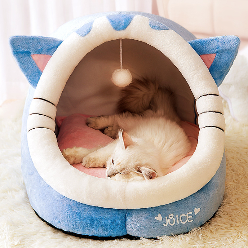 Soft Warm Cave Beds For Dog Bed Cat's House Nest Tent Cama Gato Dog Accessories Pet Products Cat Furniture Kennel Pet Supplies