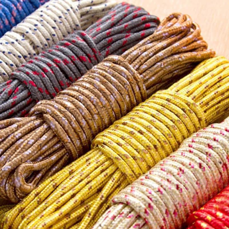 ออกแบบใหม่ 10 M สีสัน Multifunction NYLON ซักผ้าสายเชือก Clothesline String 10 M แขวน Racks GHMY