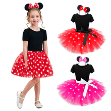 Fancy New Year Baby Girl Carnival Easter Dress For Girls Summer Mouse Birthday Children Clothing Party Tulle Kids Costume