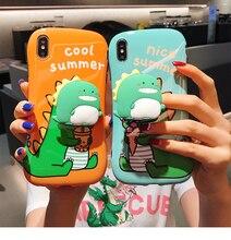 Iphone11 handy fall kleine taille 11pro max halterung cartoon kleinen dinosaurier apple xr nette xsmax kreative 7plus spaß X paar