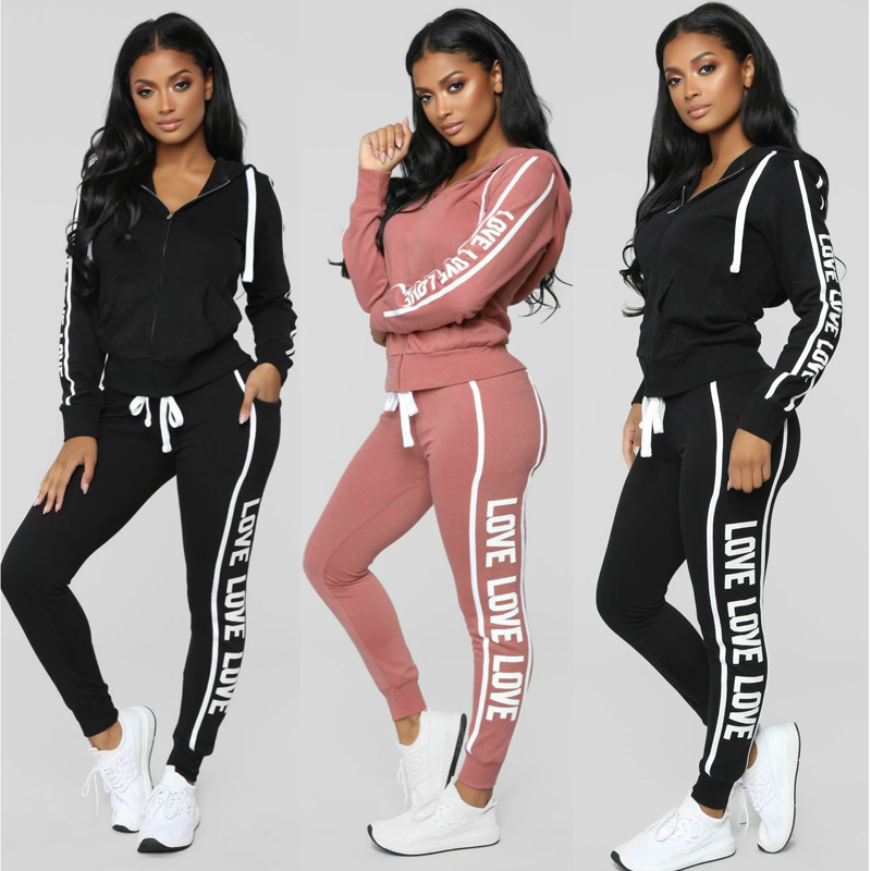 Autumn Blouse Two-piece Suit Fashion Casual Women's Sports And Leisure Sportswear Tide