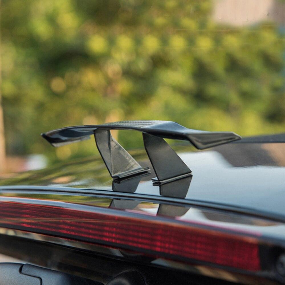 For Audi A3 Mini Spoiler Tail Decoration Spoiler Wing Carbon fiber textures Blac