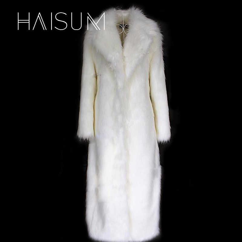 女性の毛皮のコートウインドブレーカー冬ウォームホワイト赤模造キツネの毛皮のロングセクション V-襟若い女性 2018 新コンフォート Nv008