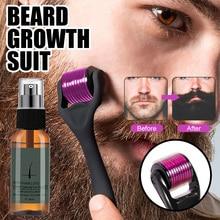 Naturally harmless Beard Growth Roller Set Beard Growth Kit Men Beard Growth Essence Nourishing Enhancer Beard Oil Spray Beard