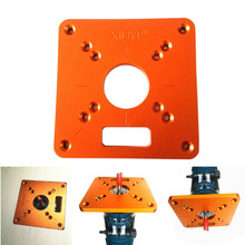 Universal RT0700C Aluminum Router Table Insert Plate Trimming Machine Flip Board for Woodworking Benches Router Table Plate cheap FNICEL