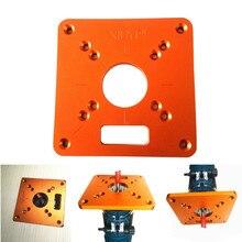 Universal rt0700c mesa de alumínio do roteador placa de inserção máquina aparar placa da aleta para bancos de madeira placa de mesa do roteador