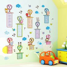 [shijuekongjian] Colorful Balloonss Wall Stickers DIY Cartoon Multiplication Table Decals for Kids Room Decoration