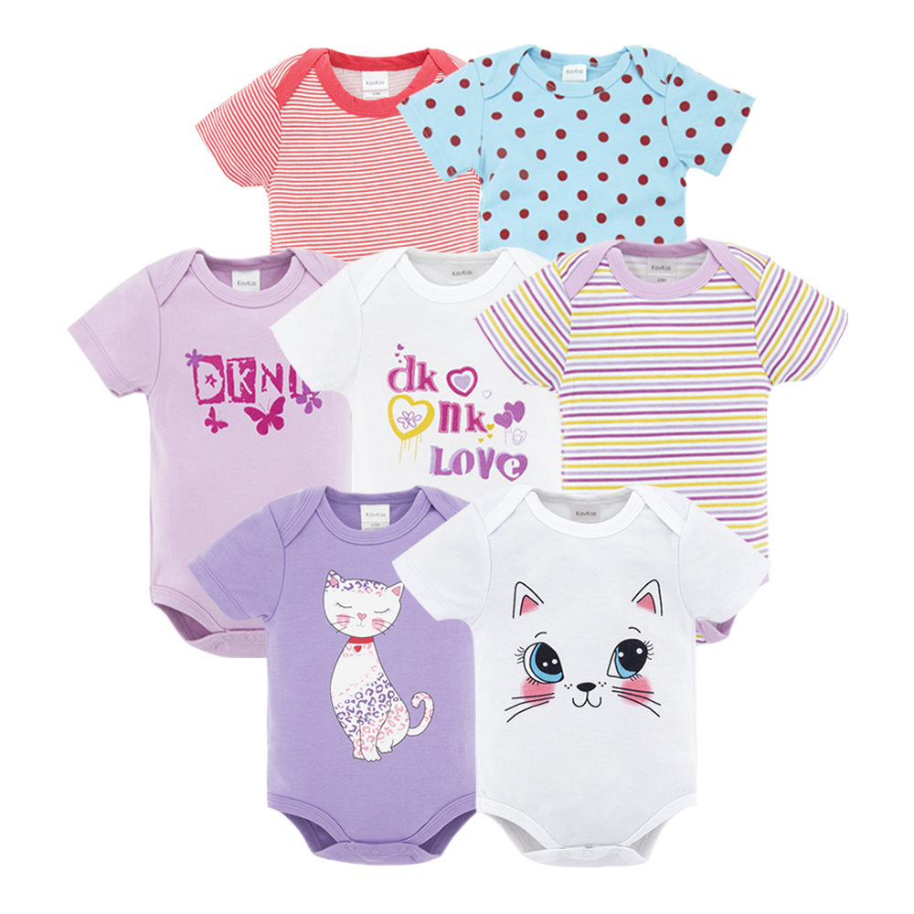 Top Quality 7PCS Baby Boys Girls Footies Clothes 2019 Fashion Roupas de bebe Clothing Newborn Onesies Overall baby girl jumpsui