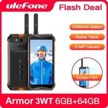 Смартфон Ulefone Armor 3WT защищенный, IP68, Android 9,0, 5,7 дюйма, Helio P70, 6 + 64 ГБ, 10300 мА · ч, 4G, 21 МП, NFC