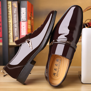 Men Formal Shoes Men Dress Shoes Brand Men Leather Shoes Classic Business Gentleman Work Office Shoes Pointed Toe desai men s shoes genuine leather british toe carved business shoes for men classic dress formal wedding 2020 new
