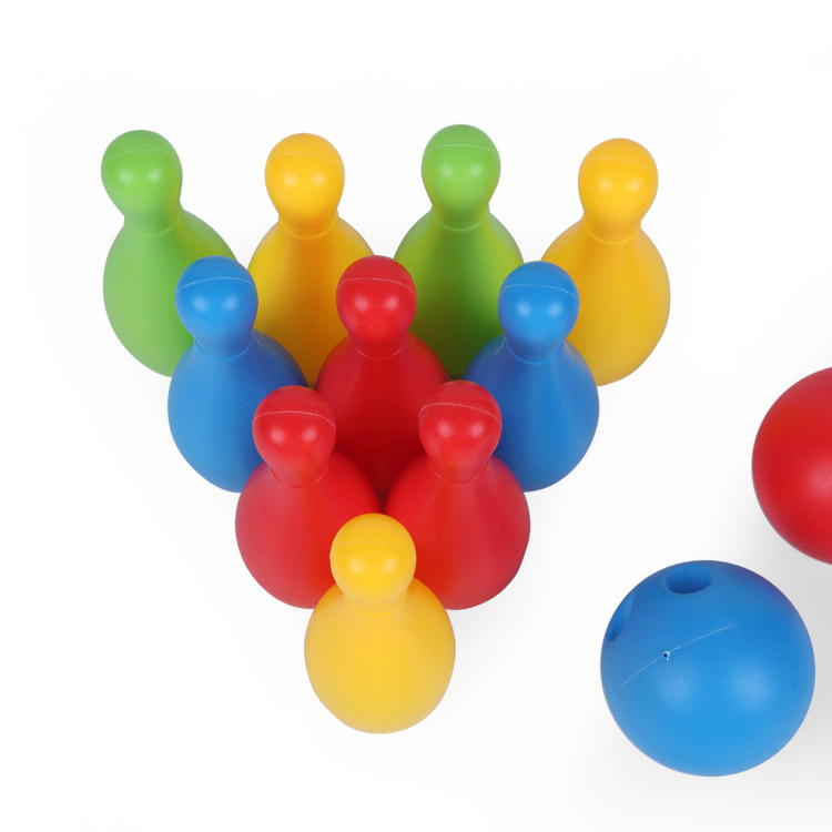 Clearance SaleßEntertainment Bowling-Toys Parent-Child-Toys Indoor Plastic Gifts YJN Color Adult Kids₧