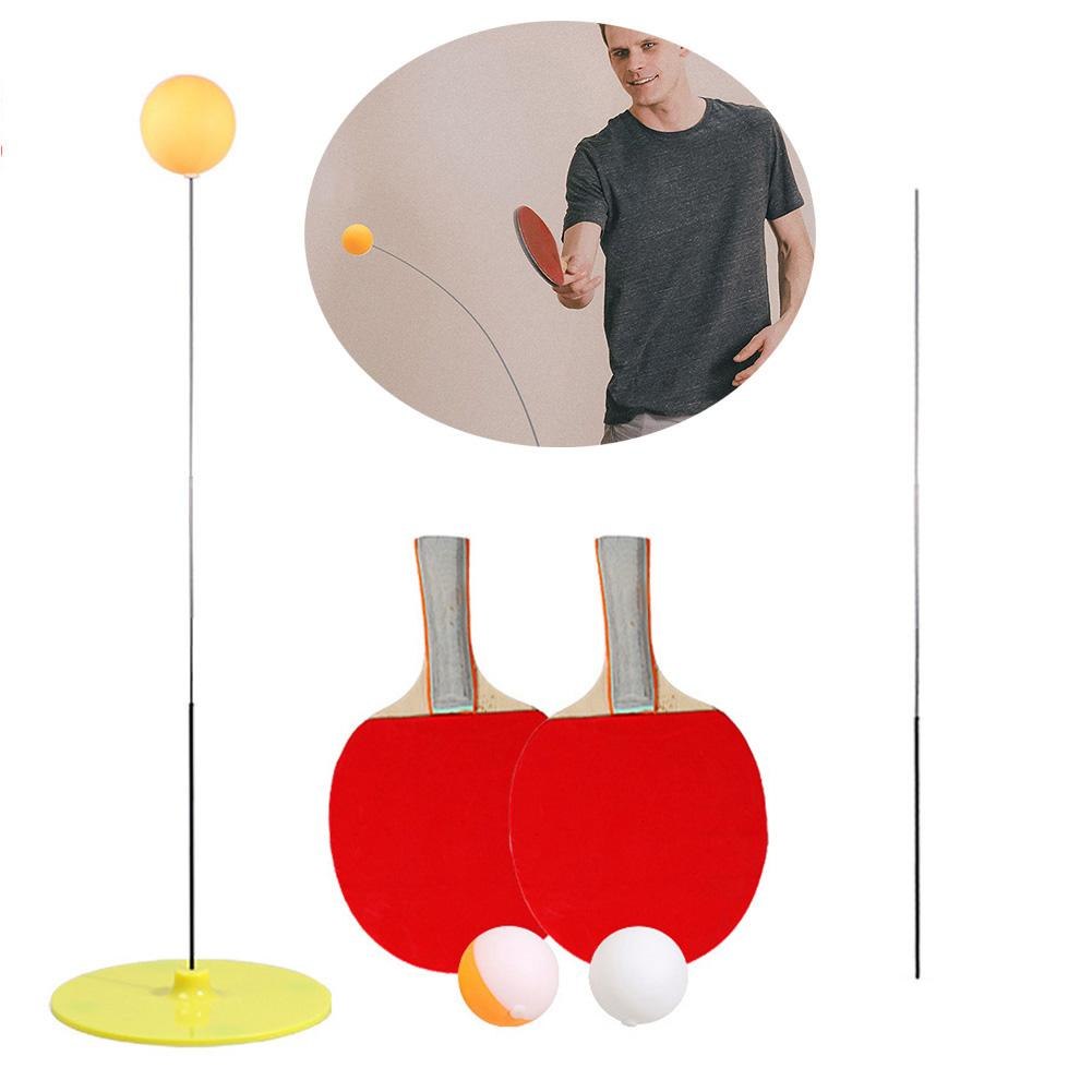 Portable Table Tennis Trainer Elastic Soft Shaft Training Machine Table Sport Kid Adult Ping Pong Training Ball Practice Fitness