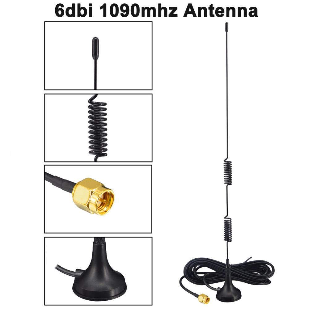 6DBi 1090 МГц ADS-B антенна SMA Мужская антенна магнитное основание RG174 1,5 м/3 м антенна самолета FPV программное обеспечение радио DVB-T SDR