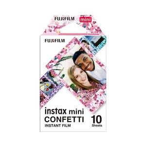 Image 5 - Véritable Fujifilm Instax Mini 8 Film confettis Fuji papier Photo instantané 10 à 50 feuilles For70 7s 50 s 90 25 partager SP 1 appareil Photo LOMO