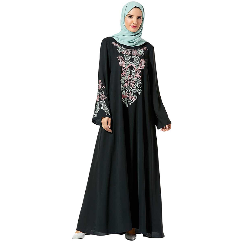 Vetement Femme 2019 Abaya Kaftan Arabic Hijab Muslim Dress Islamic Clothing Women Caftan Turkey Dresses Robe Hiver Femme Vestido