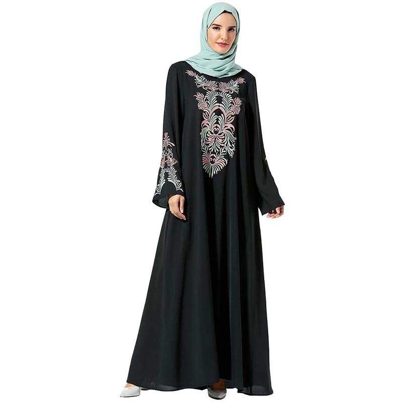 Vetement Femme 2019 Abaya Kaftan Arabic Hijab Muslim Dress Islamic Clothing Women Caftan Turkey Dresses Robe Hiver Femme Vestido