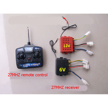 1set 4CH 27MHZ Wireless Remote Controller 6V/12V Receiver Antenna for Children Kids Power Wheels Electric Cars RIDE ON Control
