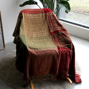 Image 4 - 5 colors Colorful Bohemian Chenille Plaids Blanket Sofa Decorative Throws on Sofa/Bed large Cobertor Blanket With Tassel T176