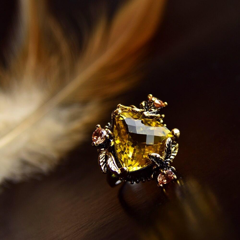 WA11668 golden color big zircon wedding ring women (2)