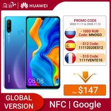 هاتف Huawei P30 Lite الذكي بذاكرة وصول عشوائي 4 جيجابايت وذاكرة قراءة فقط 64 جيجابايت الإصدار العالمي بشاشة 6.15 بوصة NFC مع تطبيق Google Play تحديث OTA يعمل بنظام الأندرويد 9 وكاميرا بدقة 24 ميجابكسل
