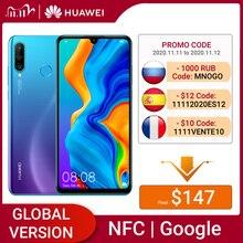 Huawei P30 Lite 4GB 64GB Smartphone Version mondiale 6.15 pouces NFC avec Google Play téléphone portable OTA mise à jour Android 9 24MP caméra