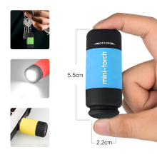 LED Flashlight Portable Keychain USB Charging Mini Flashlight Outdoor Hiking Camping Mountaineering