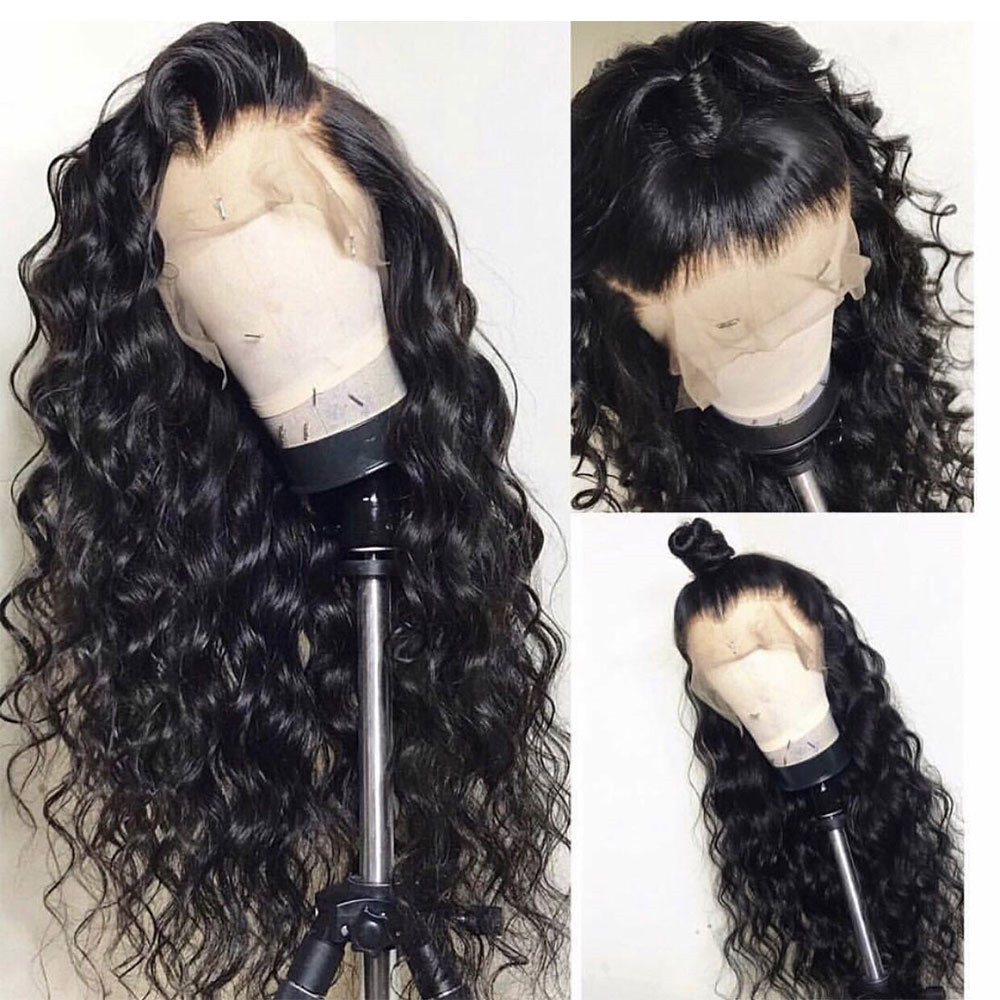Eseewigs Deep Wave Human Hair 360 Lace Frontal Wig Brazilian Remy Glueless Wigs For Women Pre Plucked Natural Hairline 150%
