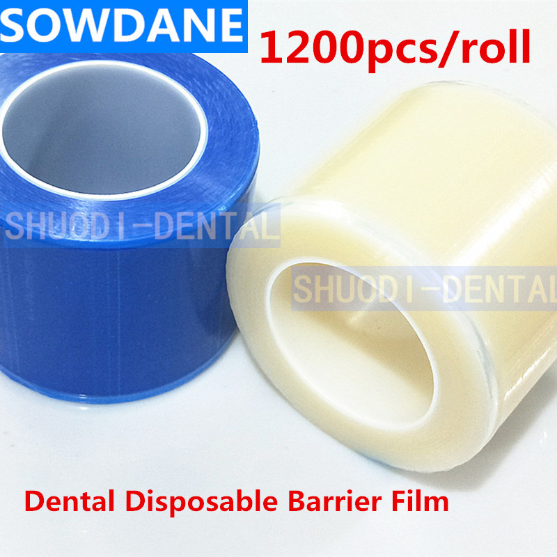 1200pcs/roll Dental Protective Film Disposable Barrier Protecting Film Plastic Oral Medical Material Isolation Membrane 10*14.5
