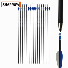 12Pcs 32Inch Archery Carbon Arrows ID4.2 Spine1200 For Compound Bow Recurve Outdoor Hunting Practice Shooting Accessories