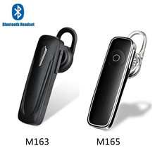 M163 Wireless Bluetooth Headset  Earphone Handfree Headphone Mini V4.1 Universal M165 Earbud Earpiece for All Phone