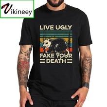 Live уродливые поддельные вашей смерти футболка так же, как кускус ретро-футболка ЕС Размеры дышащая 100% хлопковые топы тройник