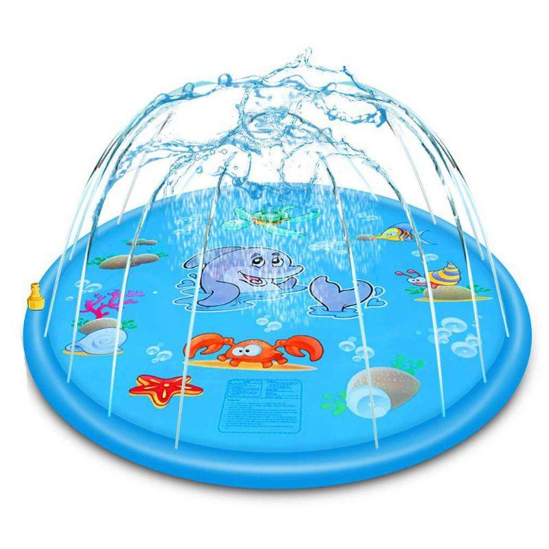 PVC gonflable coussin bébé enfants pulvérisation eau jeu Pad extérieur pelouse enfants jouent tapis d'eau garçons filles cadeaux d'été