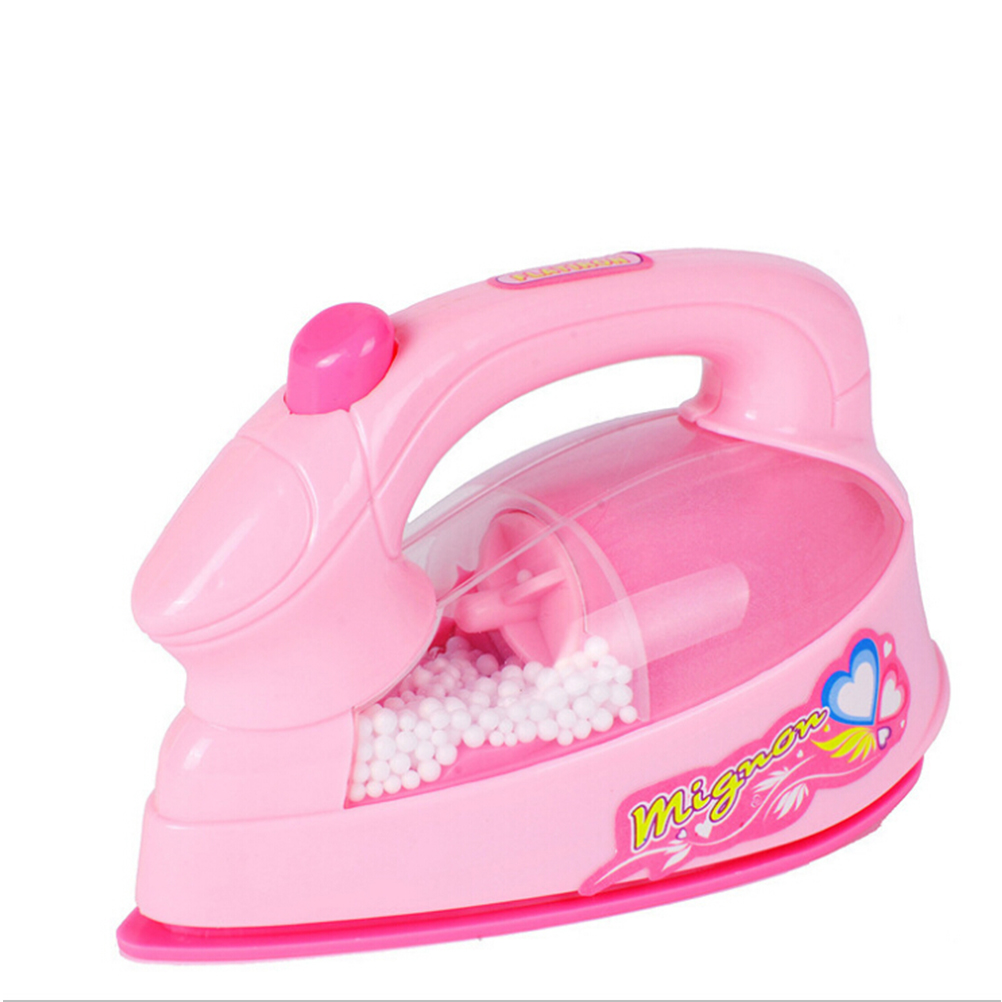 Electric Iron Plastic Light-up Simulation Mini Home Appliances Kids Children Play House Toy Baby Girls Pretend Play Toy