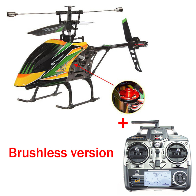 Original WLtoys V912 4CH RC Mini Drone 2.4G 6CH 3D 6G Brushless RC Helicopter with Gyro BNF Remote Control Toys For Kids Gifts 1
