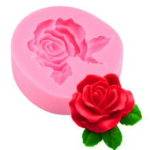 3d Трехмерная Жидкая силиконовая форма с большим листом розы