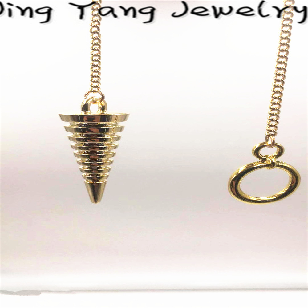 Healing Pendulum Scrying A Egyptian Sphere Copper pendulum coil Pendant Metal and Fashion Chain Nodes