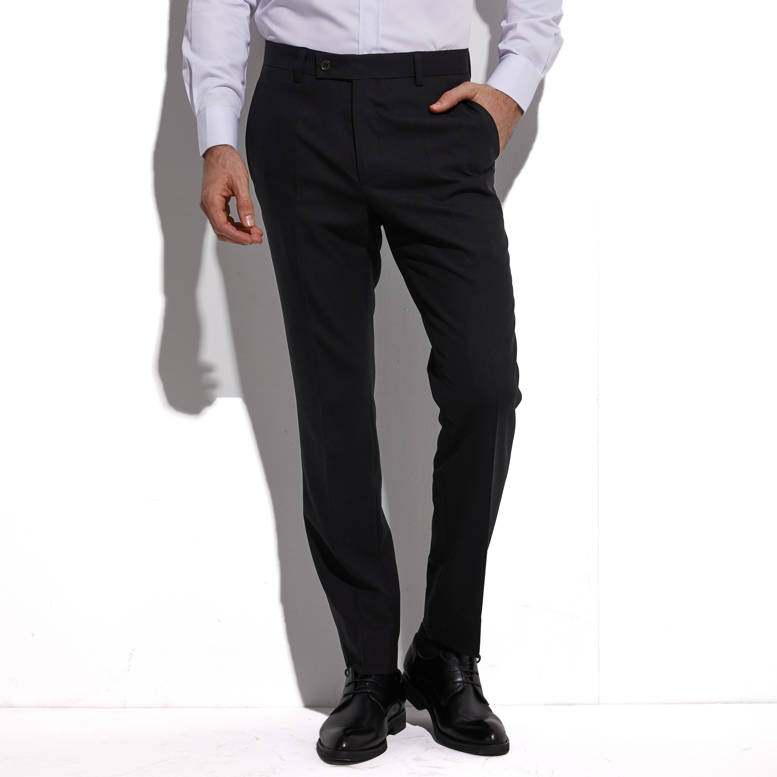 2020 Stretchy Dress Pants Custom Made Slim Fit Black Silk Wool Blend Trouser, Highly Comfortable Fabric, More Freedom For Action