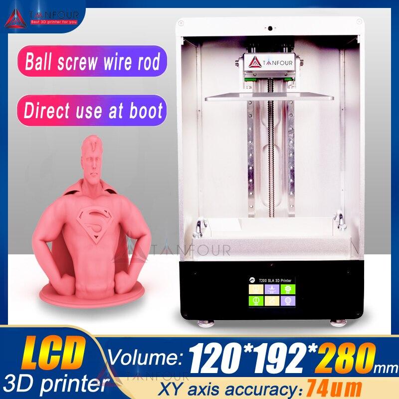 280 millimetri * 192*120 millimetri TIANFOUR 8.9 pollici T280 T200 SLA/LCD/DLP resina 3D Stampante grande volume di stampa cure luce 405nm uv resina