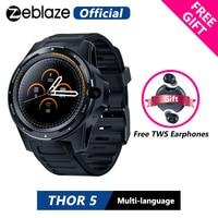 [Free TWS Earphones] Zeblaze THOR 5 Dual System Hybrid Smartwatch 1.39 AOMLED 454*454px 2GB+16GB 8.0MP Front Camera Smart watch