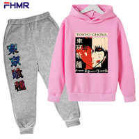 Japanese Anime Manga Boys and Girls Suit Children's Sportswear Printing Long-sleeved + Trousers Sports Suit Spring and Autumn