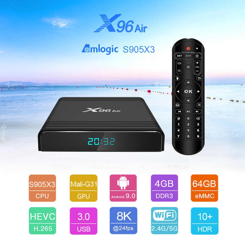 VONTAR X96 Air Amlogic S905X3 mini Android 9.0 TV BOX 4GB 64GB 32GB wifi 4K 8K 24fps Netflix X96Air 2GB 16GB décodeur