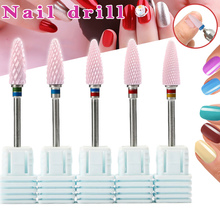NEW Ceramic Nail Art Grinding Drill Bit Electric Manicure Mill Tip for Home Professional