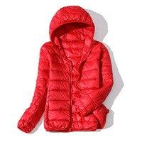 Plus Size 6XL Winter Jacket Women Warm Autumn Coats Outwear Ultralight Big Size Red Basic Jacket White Duck Down Overcoat Parka