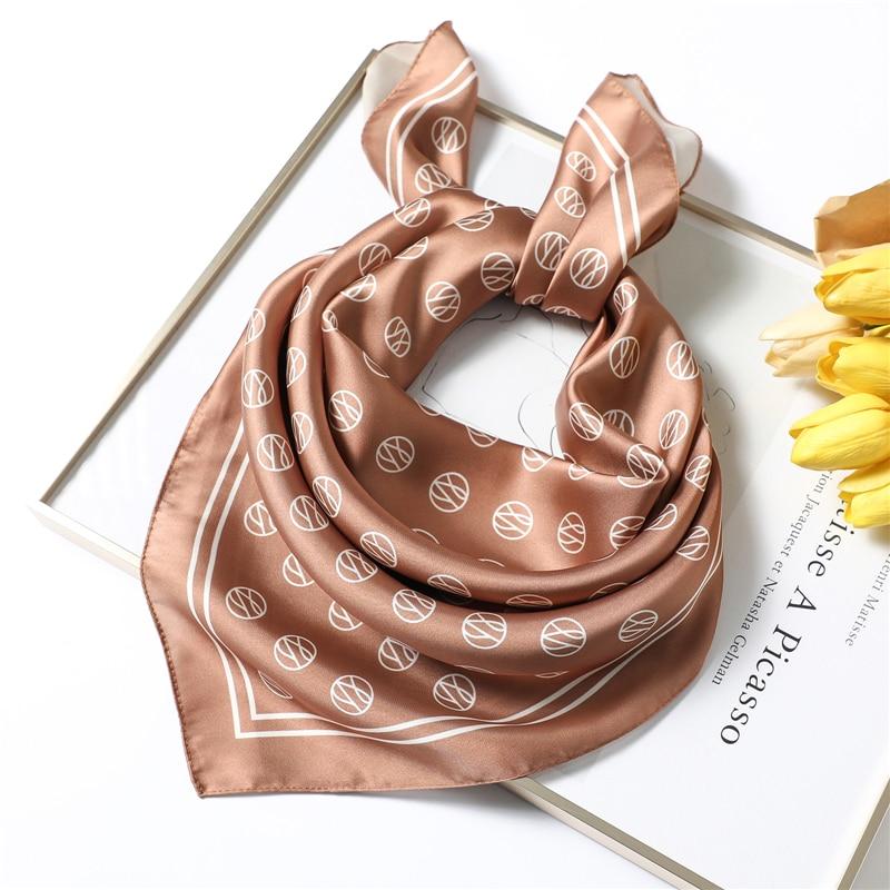 70x70cm Square Silkd Scarf For Women Brand Designer Shawls Fashion Print Foulard Bandana Lady Handkerchief Femme Hair Scarves